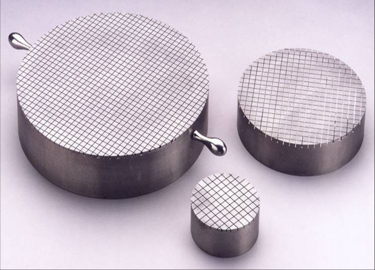 Hand Lapping Plates 12 Diameter 90 degree cross grooved surface