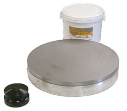 Polishing Plates 6 Diameter 5 thick lead - Solid Face